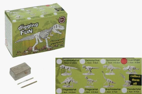 ausgrabungsset dinoskelett 8fach 24 cornelissen natierliche geschenke gmbh co kg. Black Bedroom Furniture Sets. Home Design Ideas